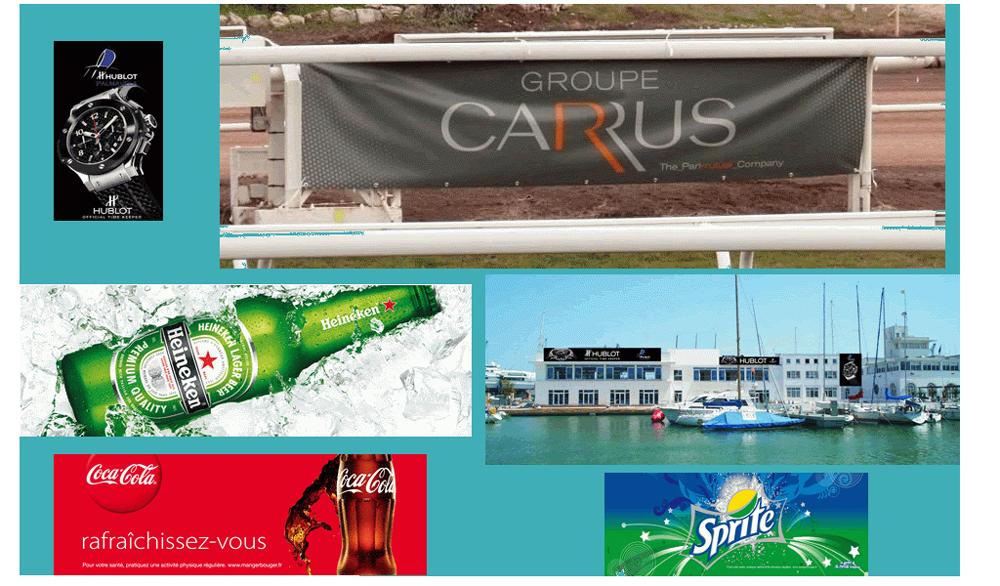 Exemples de bâches publicitaires de marques