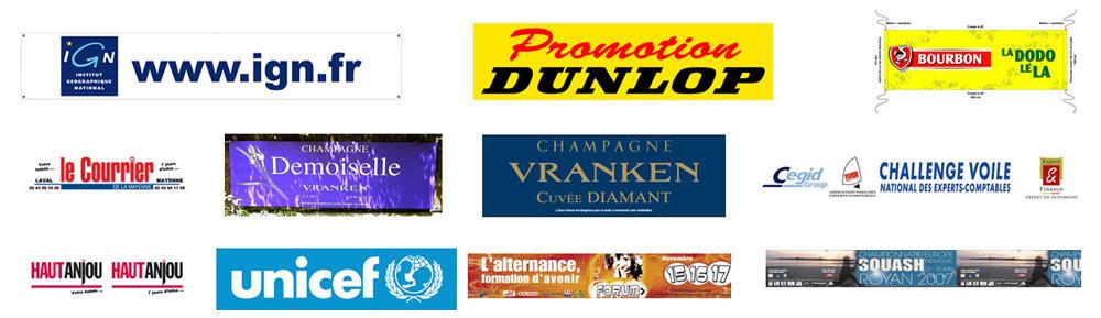 Exemple de bannière publicitaire de marque