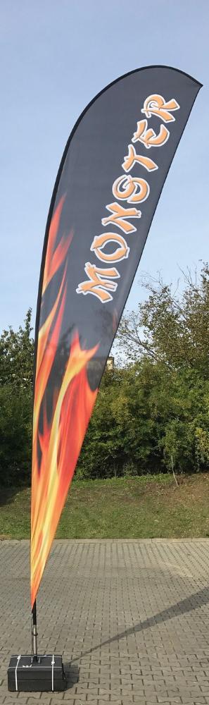 drapeau géant extérieur