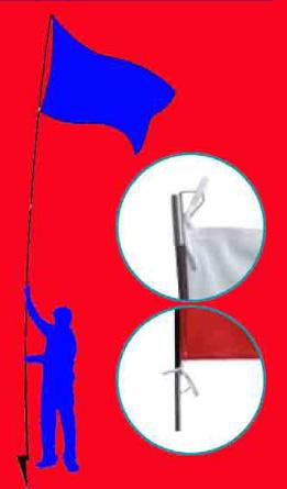 Attaches de drapeau de supporters