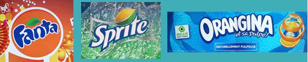 Jupes de palette de marque de soda