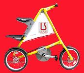 Miniature de vélo habillé pour la publicité