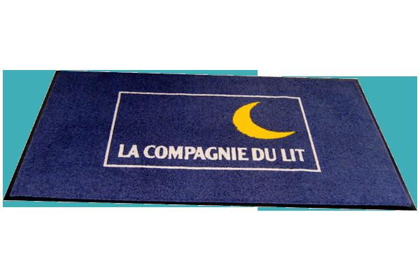 Exemple de tapis publicitaire imprimé par Monacom 1