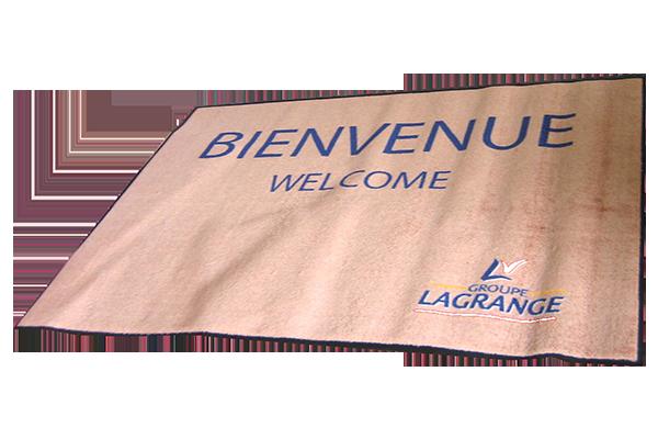 Exemple de tapis publicitaire imprimé par Monacom 2